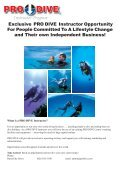 Franchise Brochure.indd - Online Scuba Diving Booking System - Page 2