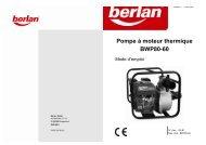 Pompe à moteur thermique BWP80-60