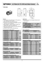 LC Filters for TV, VCR and Video Camera