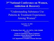 Understanding Substance Use Patterns & Treatment Experiences ...