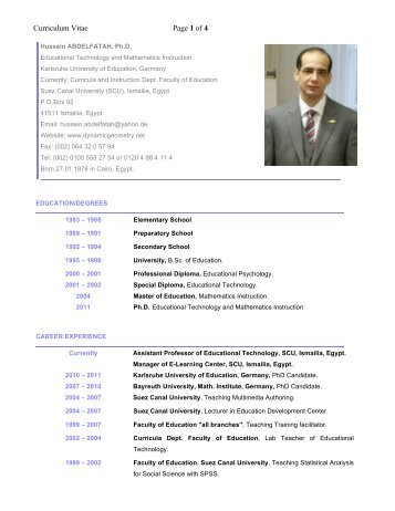 Curriculum Vitae Page 1 of 4