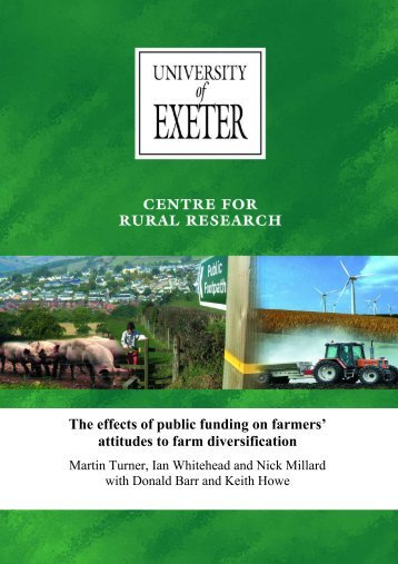 The effects of public funding on farmers' attitudes ... - AgEcon Search
