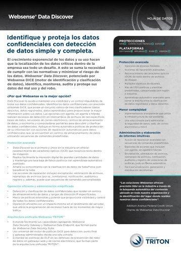 Identifique y proteja los datos confidenciales con ... - Websense
