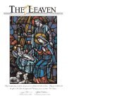May the gifts of joy and peace be yours as we ... - The Leaven