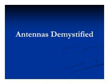 Antennas Demystified - MW0MXT