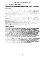 EPA Label Review Manual Revision - The Pesticide Stewardship ...