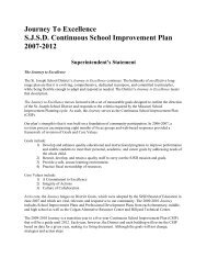 Journey To Excellence S.J.S.D. Continuous ... - SJSD Home Page