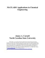 MATLAB Applications in Chemical Engineering - KFUPM Faculty List