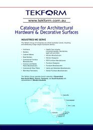 Catalogue for Architectural Hardware & Decorative ... - Tekform