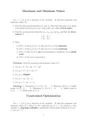 Optimization of Functions of Two Variables