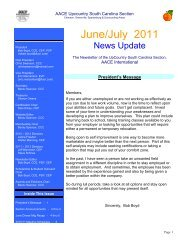 June/July 2011 - Upcountry South Carolina Section
