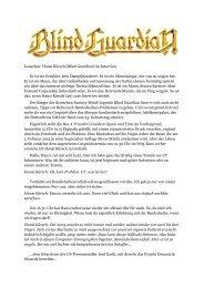 Lauschen: Hansi Kürsch (Blind Guardian) im Interview Er ist ein ...