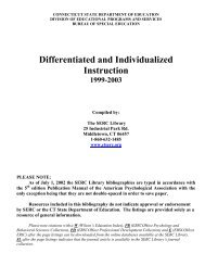 Differentiated and Individualized Instruction - The State Education ...