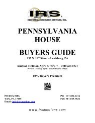 PENNSYLVANIA HOUSE BUYERS GUIDE - IRS Auctions!
