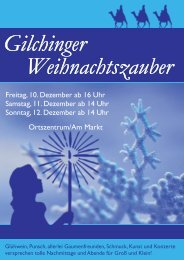 Krall Flyer A6.indd - Kultur-Portal Gilching