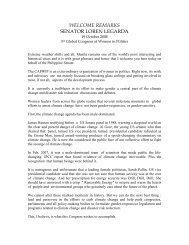 Welcome Remarks of Senator Loren B. Legarda ... - CAPWIP