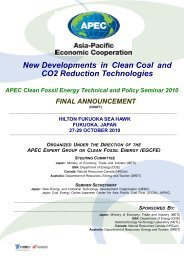 New Developments in Clean Coal and CO2 Reduction Technologies