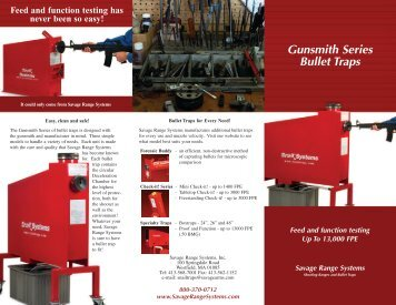 Gunsmith Series Bullet Traps - Savage Range Systems
