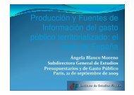 Producción y Fuentes de Información del gasto ... - Sector Fiscalidad