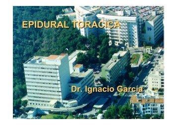 Taller epidural toracica