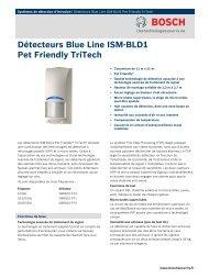 Détecteurs Blue Line ISM-BLD1 Pet Friendly TriTech