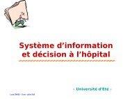 Système d'information et décision à l'hôpital
