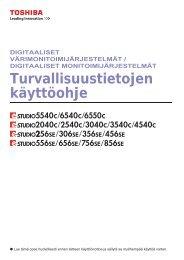 Turvallisuustietojen käyttöohje - Toshiba Tec Nordic