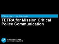 TETRA for Mission Critical Police Communication