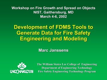 IAFSS MODEL CURRICULUM Undergraduate FPE Program - NIST