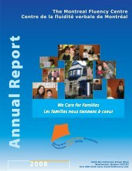 2008 Annual Report - Montreal Fluency