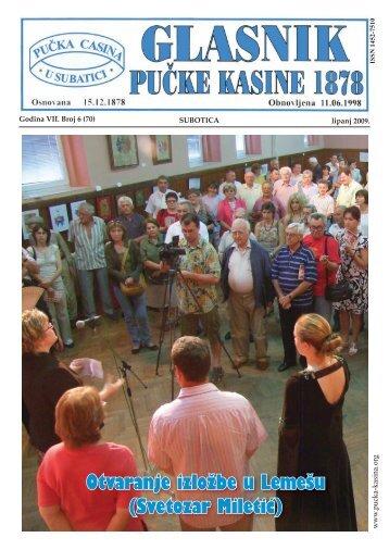 Lipanj 2009 - Pučka Kasina 1878