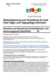 Bedarfsplanung und Verwaltung für freie Kita-Träger und ...