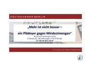 """""""Mehr ist nicht besser – ein Plädoyer gegen Mindestmengen"""