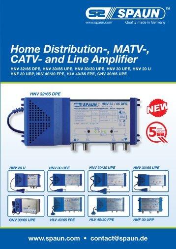 Home Distribution-, MATV-, CATV- and Line Amplifier - Spaun