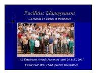 April 2007 - Facilities Management