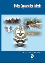Police Organisation in India - Commonwealth Human Rights Initiative