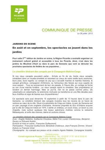 communique de presse - Jardinot - Le jardin du cheminot