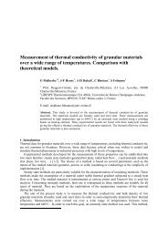 Measurement of thermal conductivity of granular materials over a ...
