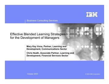 Effective Blended Learning Strategies for the Development of ...