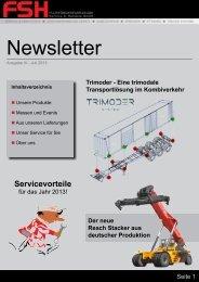 Newsletter - FSH Flurförderfahrzeuge Service und Handels GmbH