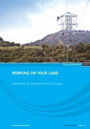 WORKING ON YOUR LAND - Transpower