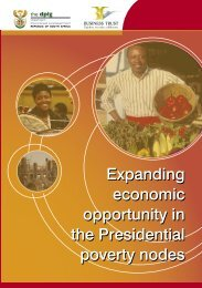 Expanding economic opportunity in the Presidential ... - Business Trust