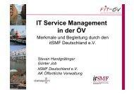 IT Service Management in der öffentlichen Verwaltung mit ... - FIT-öV