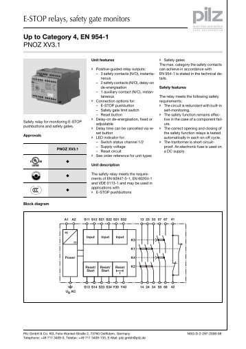 e stop relays safety gate monitors?quality=85 1 emergency pilz pnoz x2 wiring diagram at gsmx.co