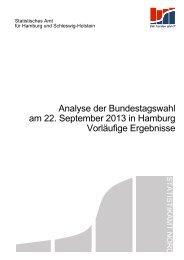 Analyse der Bundestagswahl am 22. September 2013 in Hamburg ...