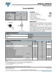 Power MOSFET IRFBC40, SiHFBC40