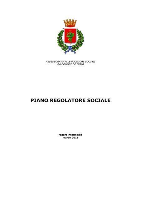 Report Intermedio Piano Regolatore Sociale Comune Di Terni