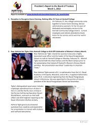 President's Report to the Board of Trustees March ... - Hartnell College