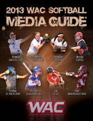 2013 WAC Softball Media Guide - Western Athletic Conference
