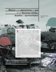 México y las operaciones de paz de las Naciones Unidas: desafíos ...